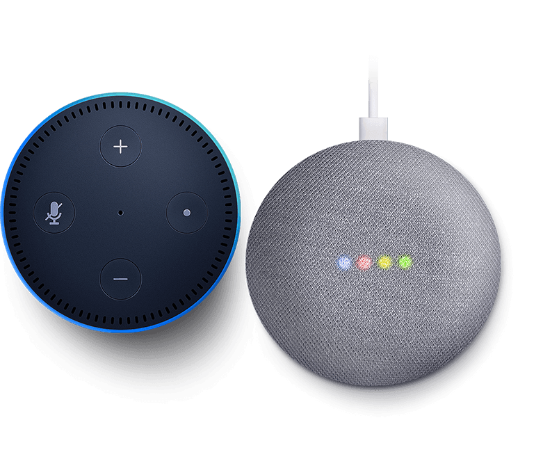 Voice assistant compatible with Amazon Alexa and Google Assistant