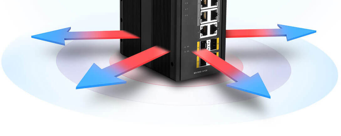 Heat dissipating from DIS switch