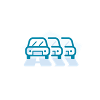 Motorway with cars icon