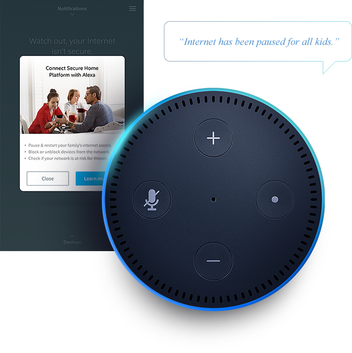 Voice Assistant compatibility shown with Amazon Alexa