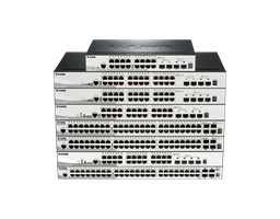 DGS‑1510 Series Stackable Smart Managed Gigabit Switches Stacked