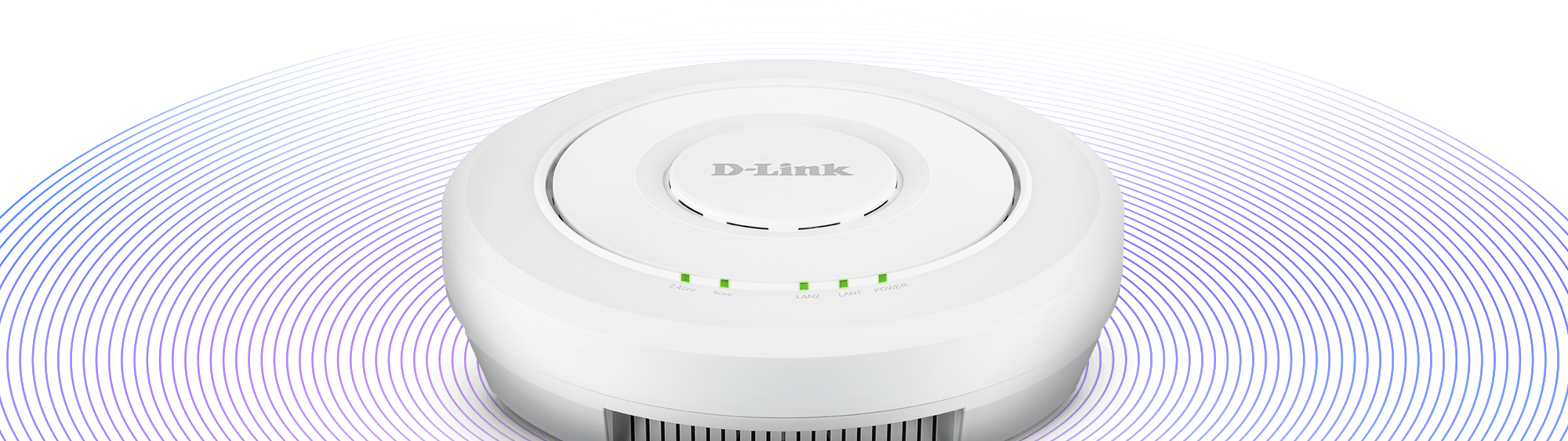 Wireless waves from the DWL-6620APS Wireless AC1300 Wave 2 Unified Access Point with Smart Antenna