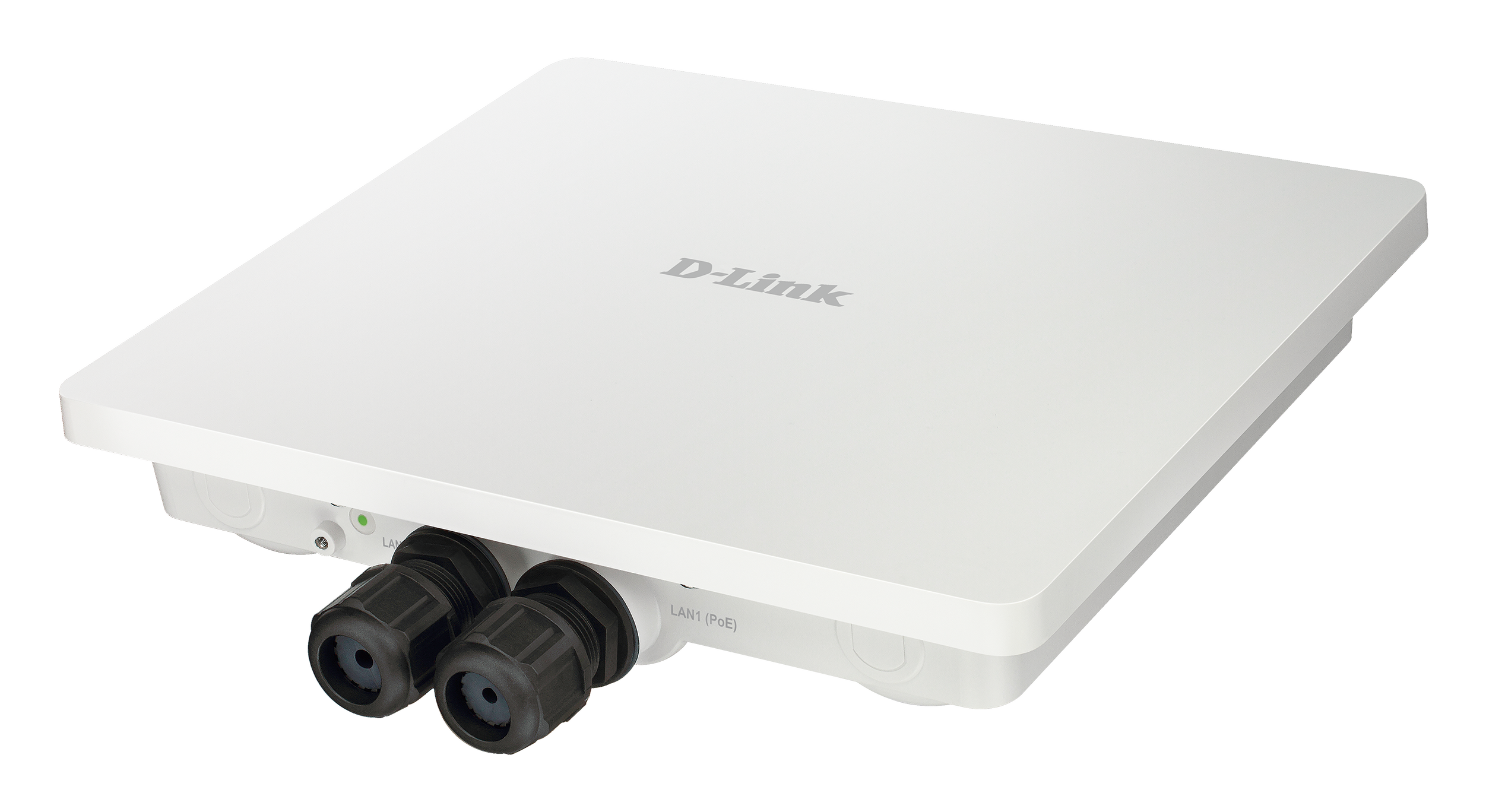 DAP-3666 Wireless AC1200 Wave 2 Dual-Band Outdoor PoE Access Point - Side left bottom angled