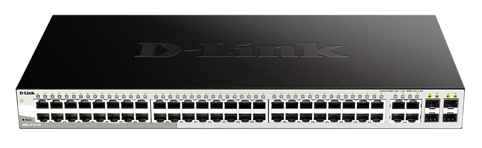 48-Port Gigabit Smart Managed Switch including 4 Combo 1000BASE-T/SFP ports (fanless)