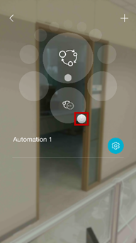 How do I set up automation using the mydlink app
