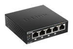 Left side of the DGS-1005P 5-Port Desktop Gigabit PoE+ Switch