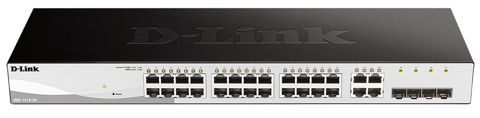 24-Port Gigabit Smart Managed Switch with 4 combo 1000BASE-T/SFP ports (fanless)