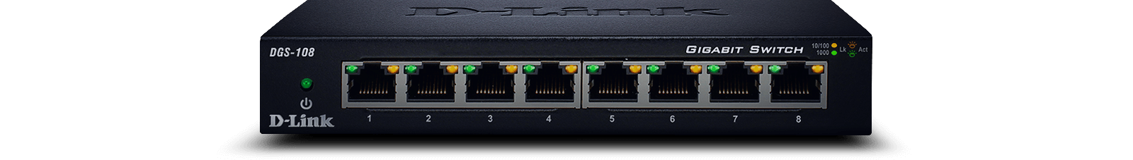 DGS-108 8‑Port Gigabit Unmanaged Desktop Switch
