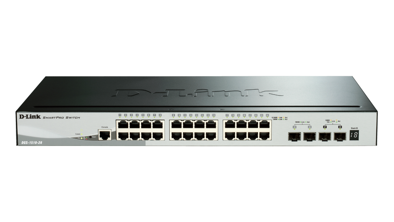 28-Port Gigabit Stackable Smart Managed Switch including 2 10G SFP+ and 2 SFP ports