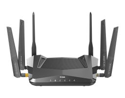 DIR-X5460 AX5400 Wi-Fi 6 Router - front view.