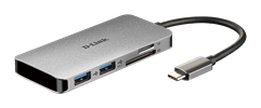 DUB-M610 6-in-1 USB-C Hub with HDMI/Card Reader/Power Delivery - side