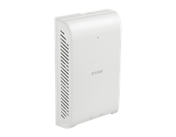 DAP-2620 Wireless AC1200 Wave 2 In-Wall PoE Access Point - side angled view
