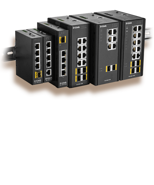 DIS Industrial Switches mounted on DIN Rail