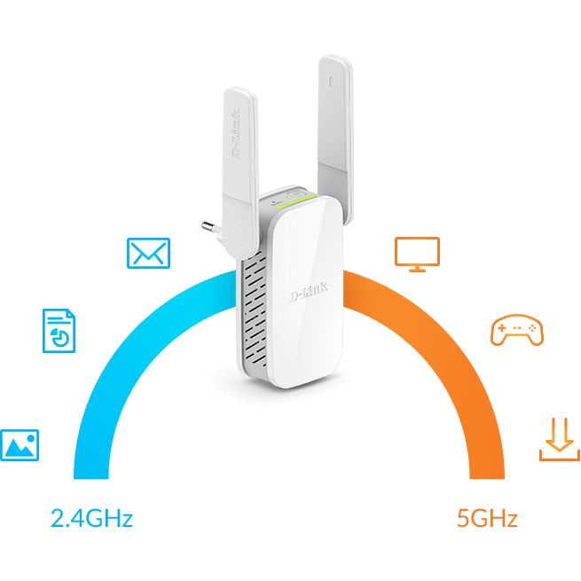 Dual band allow for less WiFi congestion and improved wireless performance