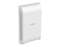 DAP-2622 Wireless AC1200 Wave 2 In-Wall PoE Access Point - angled side view.