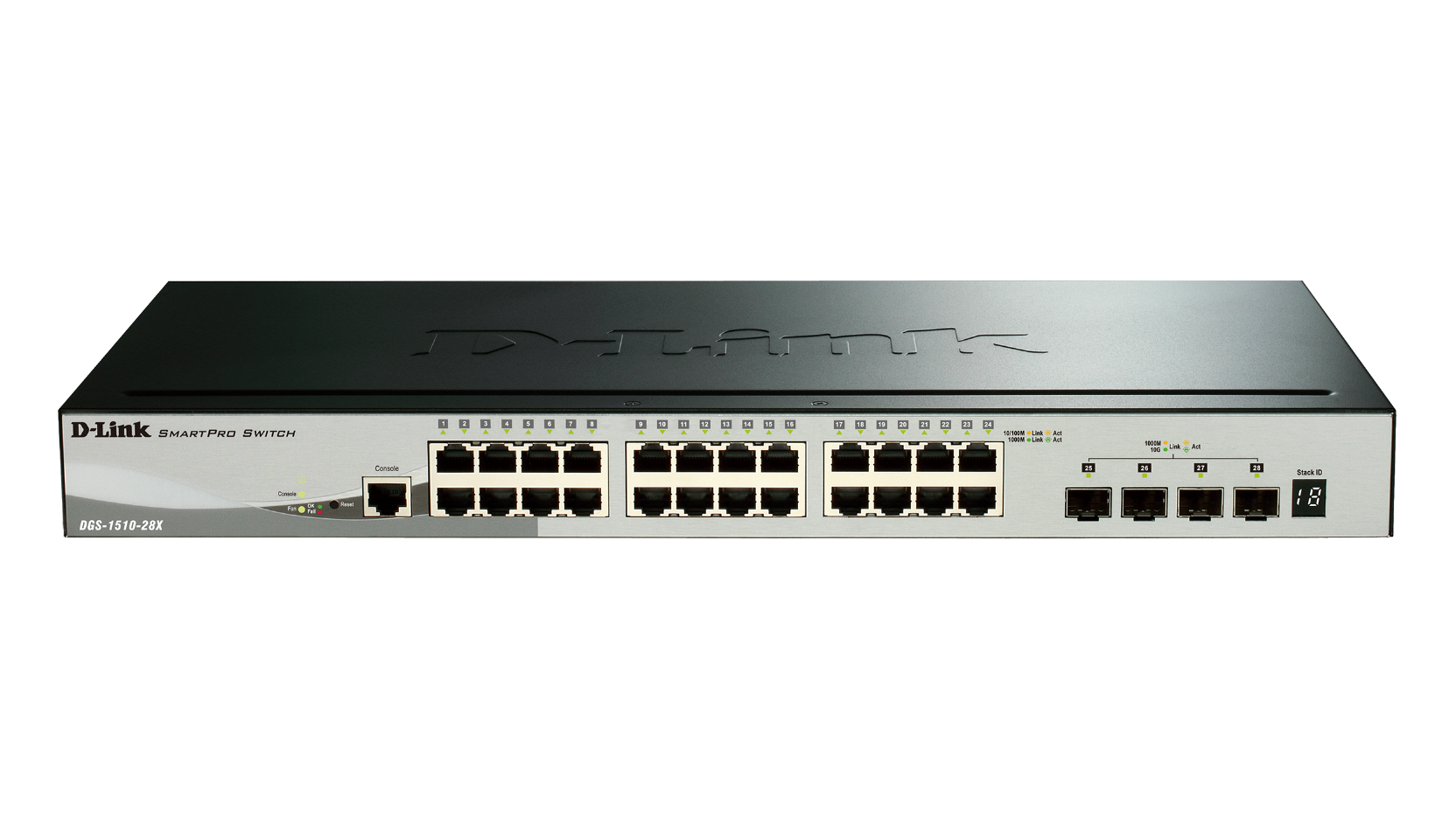 28-Port Gigabit Stackable Smart Managed Switch including 4 10G SFP+