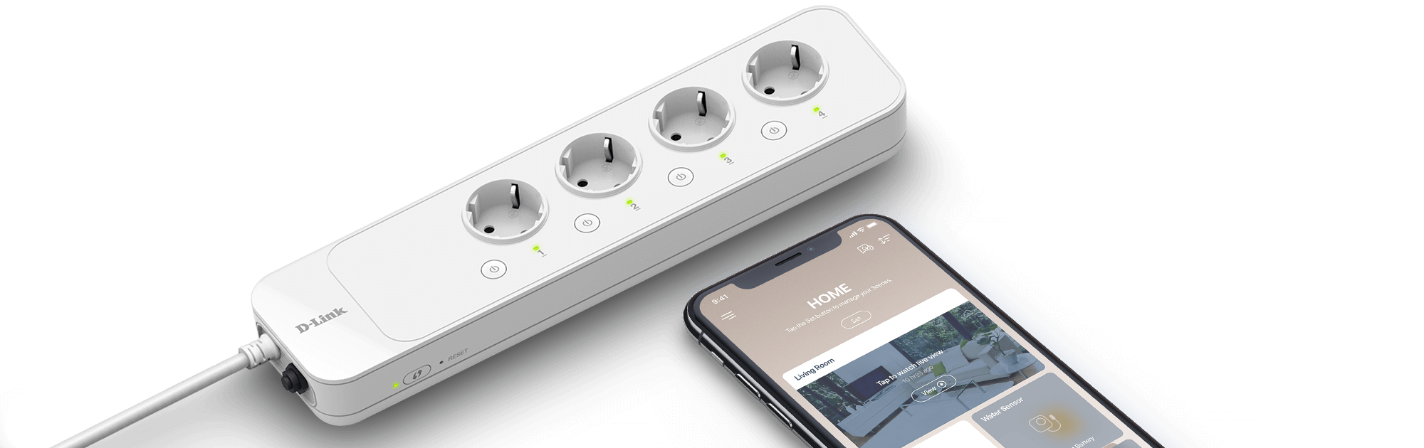 mydlink Smart Wi-Fi Power Strip for mobile management