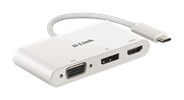 DUB-V310 3-in-1 USB-C to HDMI/VGA/DisplayPort Adapter - side view