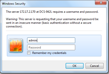 how do i set an administrator admin password on my dcs 942l d