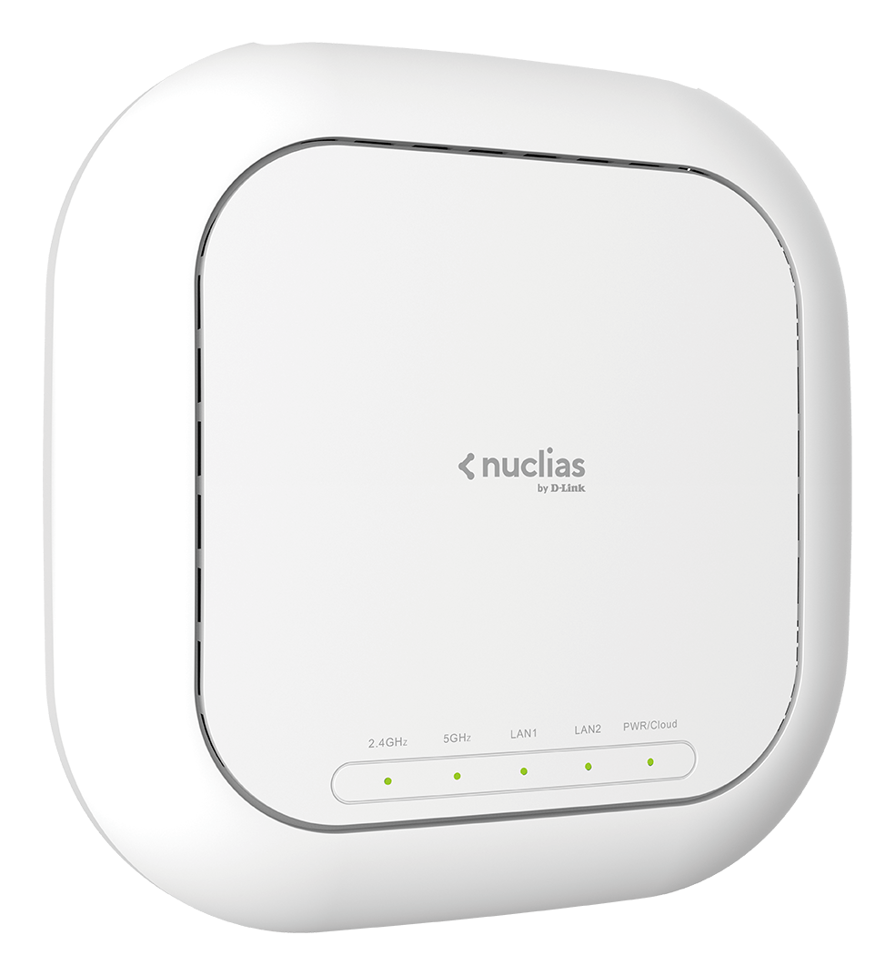 DBA-2520P Nuclias Wireless AC1900 Wave 2 Cloud-Managed Access Point - side angle