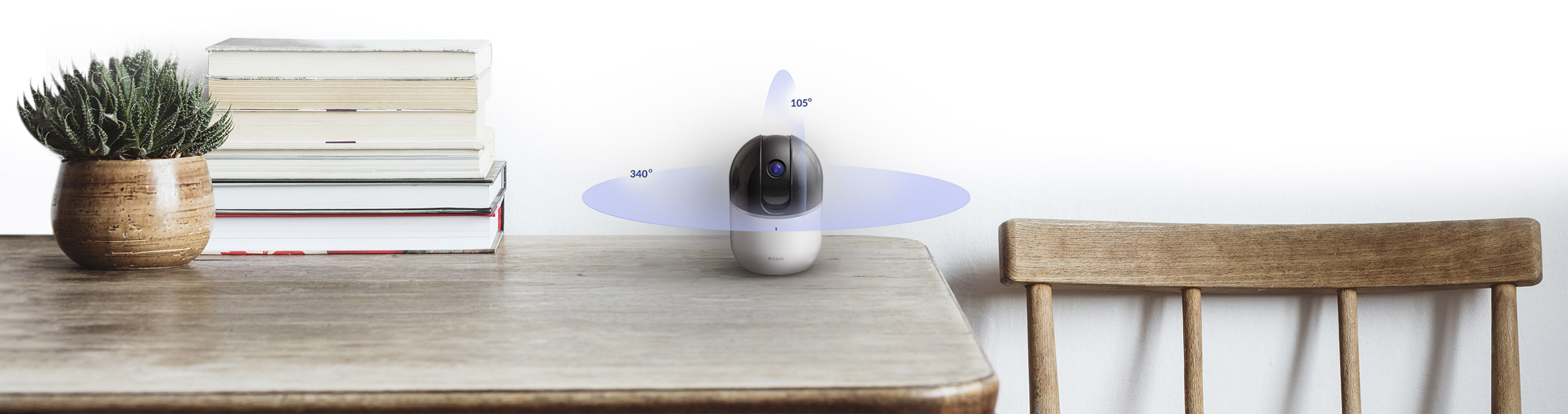 DCS-8515LH mydlink HD Pan & Tilt Wi-Fi Camera on a table