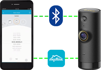 DCS-P6000LH settuping up with the mydlink app and bluetooth