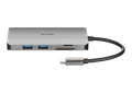 DUB-M810 8-in-1 USB-C Hub with HDMI/Ethernet/Card Reader/Power Delivery - front view
