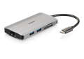 DUB-M810 8-in-1 USB-C Hub with HDMI/Ethernet/Card Reader/Power Delivery - side with reflection