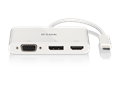 DUB-V310 3-in-1 USB-C to HDMI/VGA/DisplayPort Adapter - front view with reflection