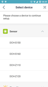 DCH Z120 how to add to mydlink home app