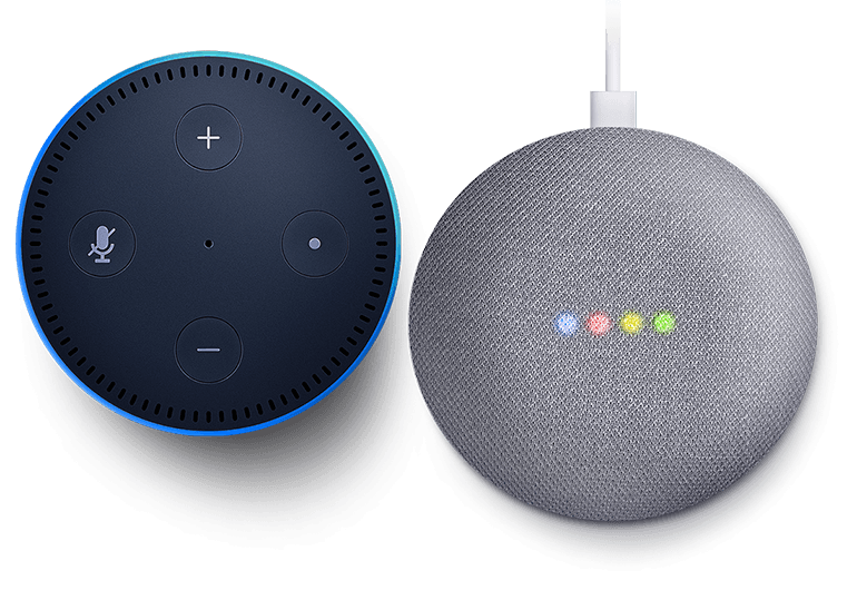 Fits into your Smart Home with Amazon Alexa and Google Assistant