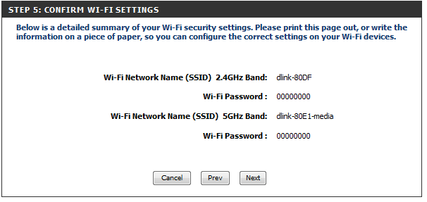 how to create a password for dlink router