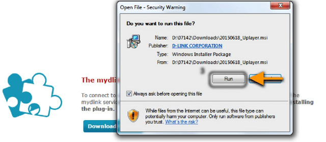 How to install mydlink services plug-in on Windows Internet Explorer