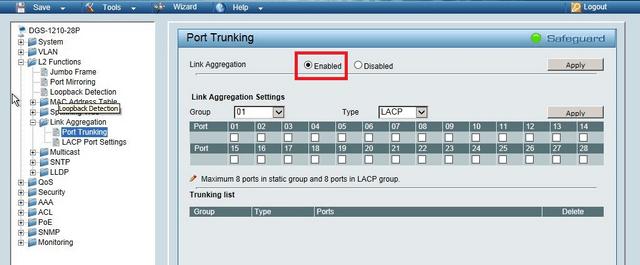 How to Configure Link Aggregation LACP - DGS-1210? | D-Link UK