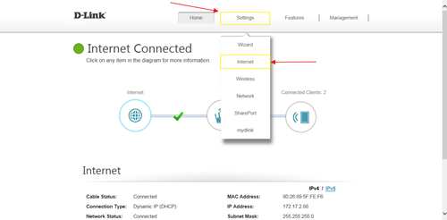 How to clone my PC MAC address to the router?   D-Link UK Router Wiring Diagram Pv Mk on