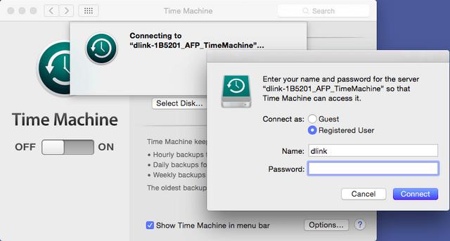 How do I setup Time Machine on DNS and mac OS X? | D-Link UK