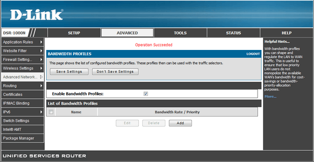 How do I set a bandwidth limit for incoming traffic for all