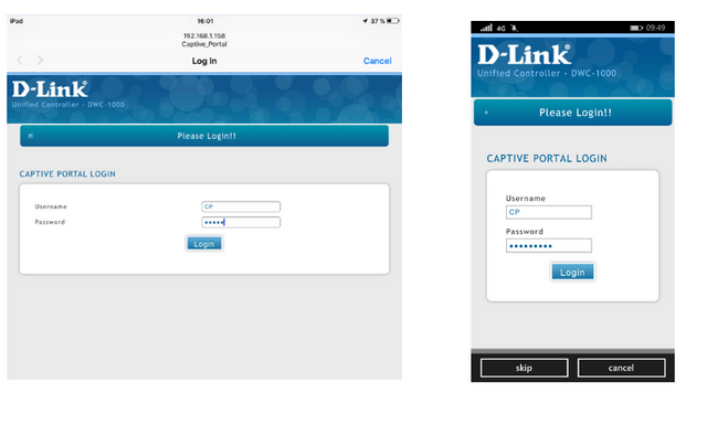 How to create captive portal on DWC-1000 – FW 4 4 x | D-Link UK