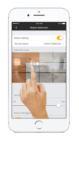 Setup Omna motion detection in Omna App - Step 4