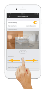 Setup Omna motion detection in Omna App - Step 5