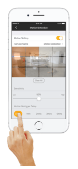 Setup Omna motion detection in Omna App - Step 6