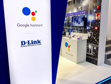 D-Link MWC 2018 Booth with Google Assistant Compatible Products