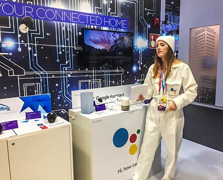 Google Assistant with D-Link compatible products MWC 2018