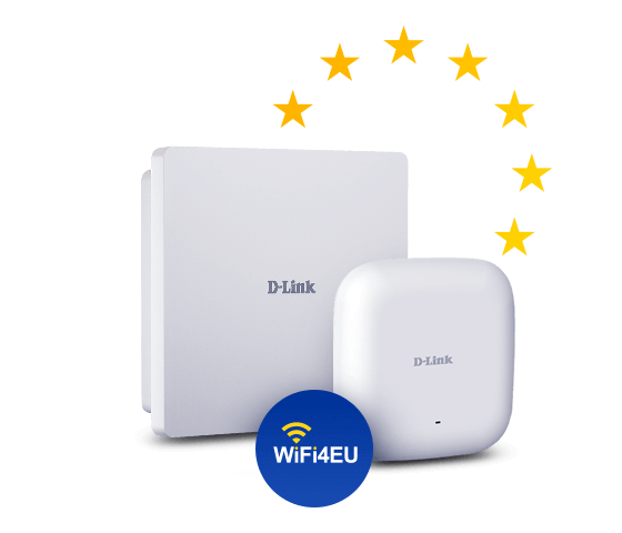 DAP-2662 and DAP-3666 with WiFi4EU logo