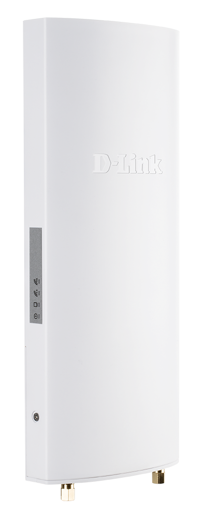 DBA-3620P Nuclias Wireless AC1300 Wave 2 Cloud‑Managed Outdoor Access Point - side angled