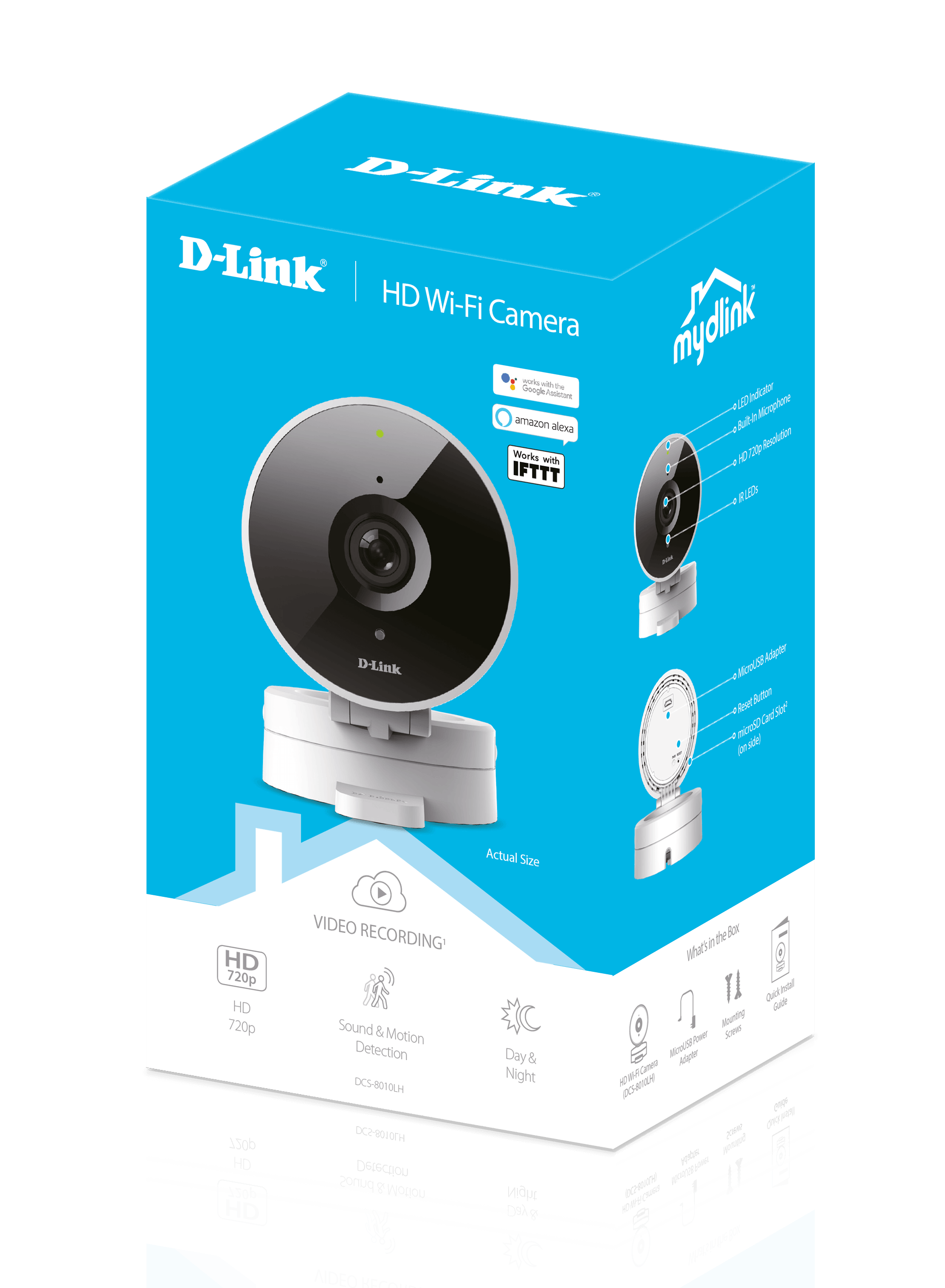 Box of the DCS-8010LH mydlink HD Wi-Fi Camera