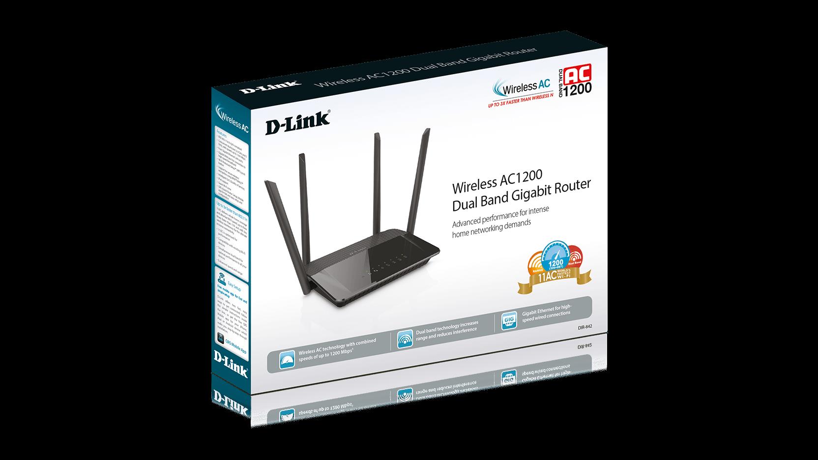 Dir 842 Wireless Ac1200 Dual Band Gigabit Router D Link Uk Connection Diagram Further Modem