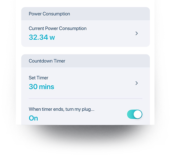 Automatic power schedules on the mydlink app