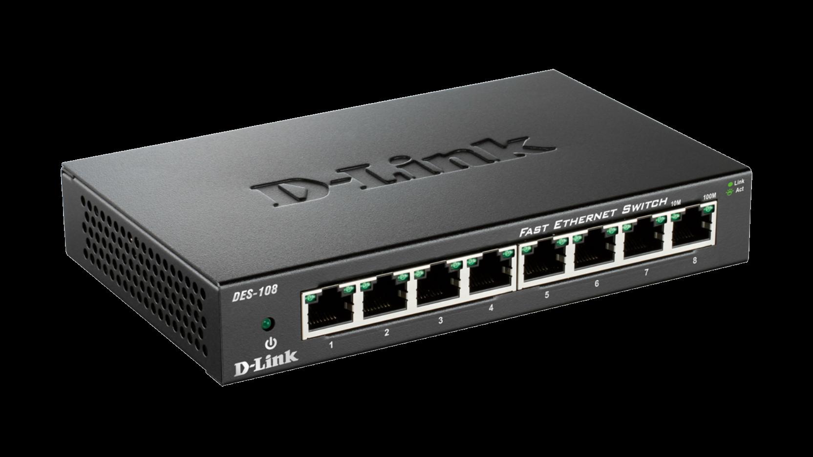 Des 108 8 Port Fast Ethernet Unmanaged Desktop Switch D