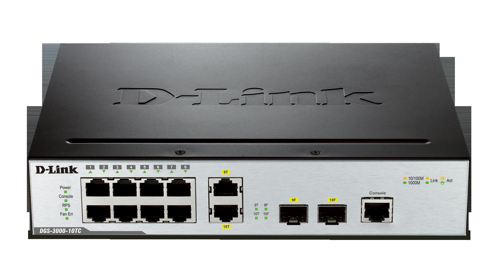 Dgs 3000 10tc 10 Port Gigabit L2 Managed Switch D Link Uk